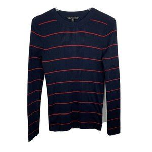 Athleta Bayside Sweater M Striped Navy Blue Red